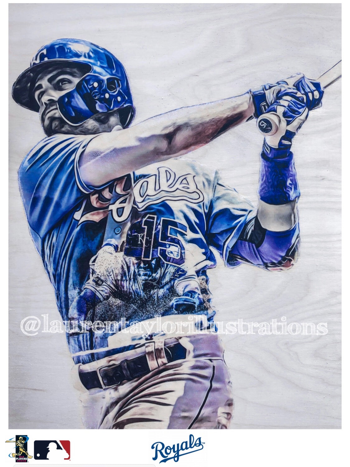"""No Quit Whit"" (Whit Merrifield) Kansas City Royals - Officially Licensed MLB Print - Limited Release"
