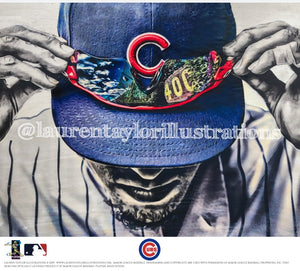 """Gametime"" Chicago Cubs & Wrigley Field - Officially Licensed MLB Print - Limited Release"