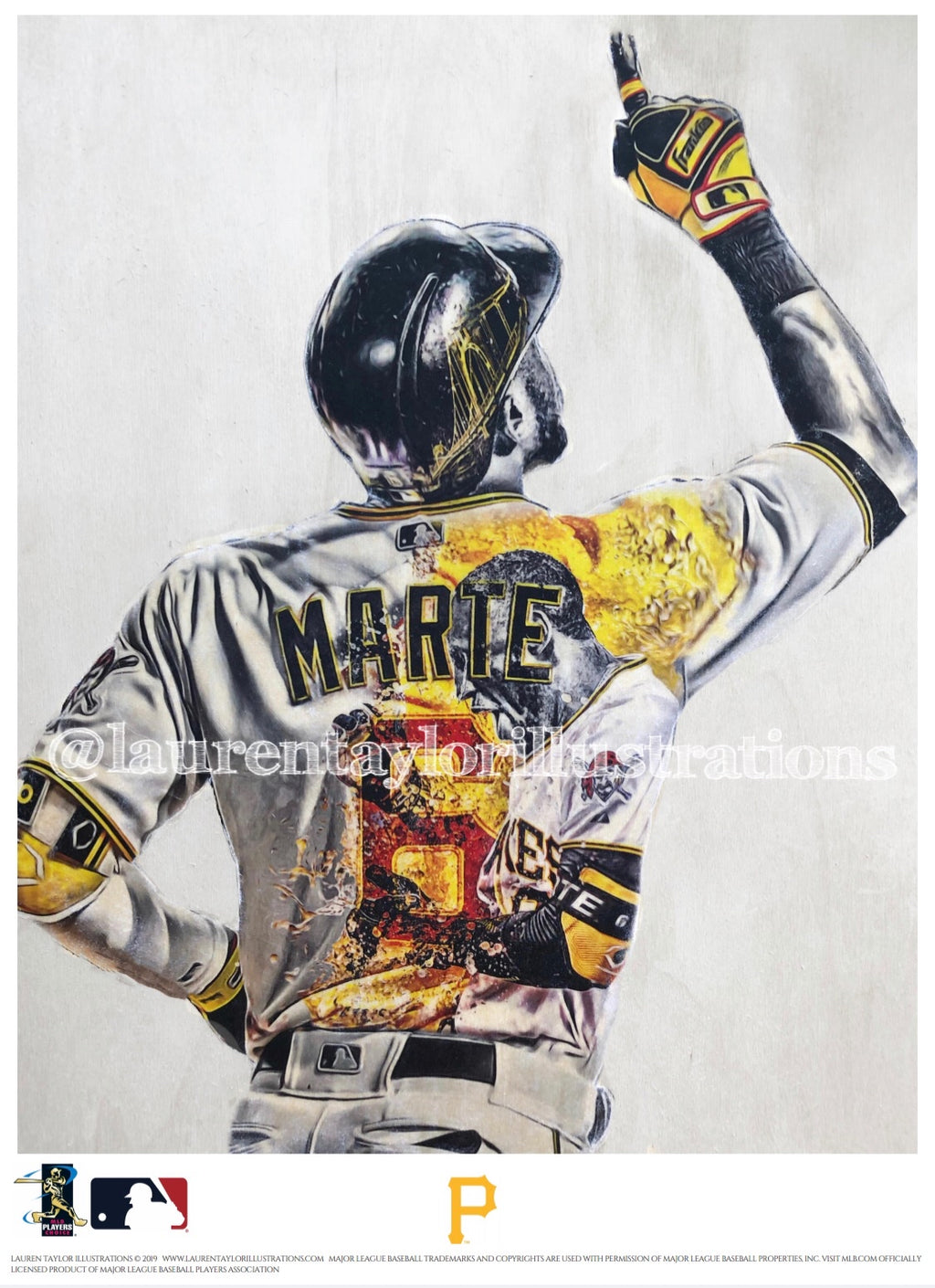 """Marte"" (Starling Marte) Pittsburgh Pirates - Officially Licensed MLB Print - Limited Release"