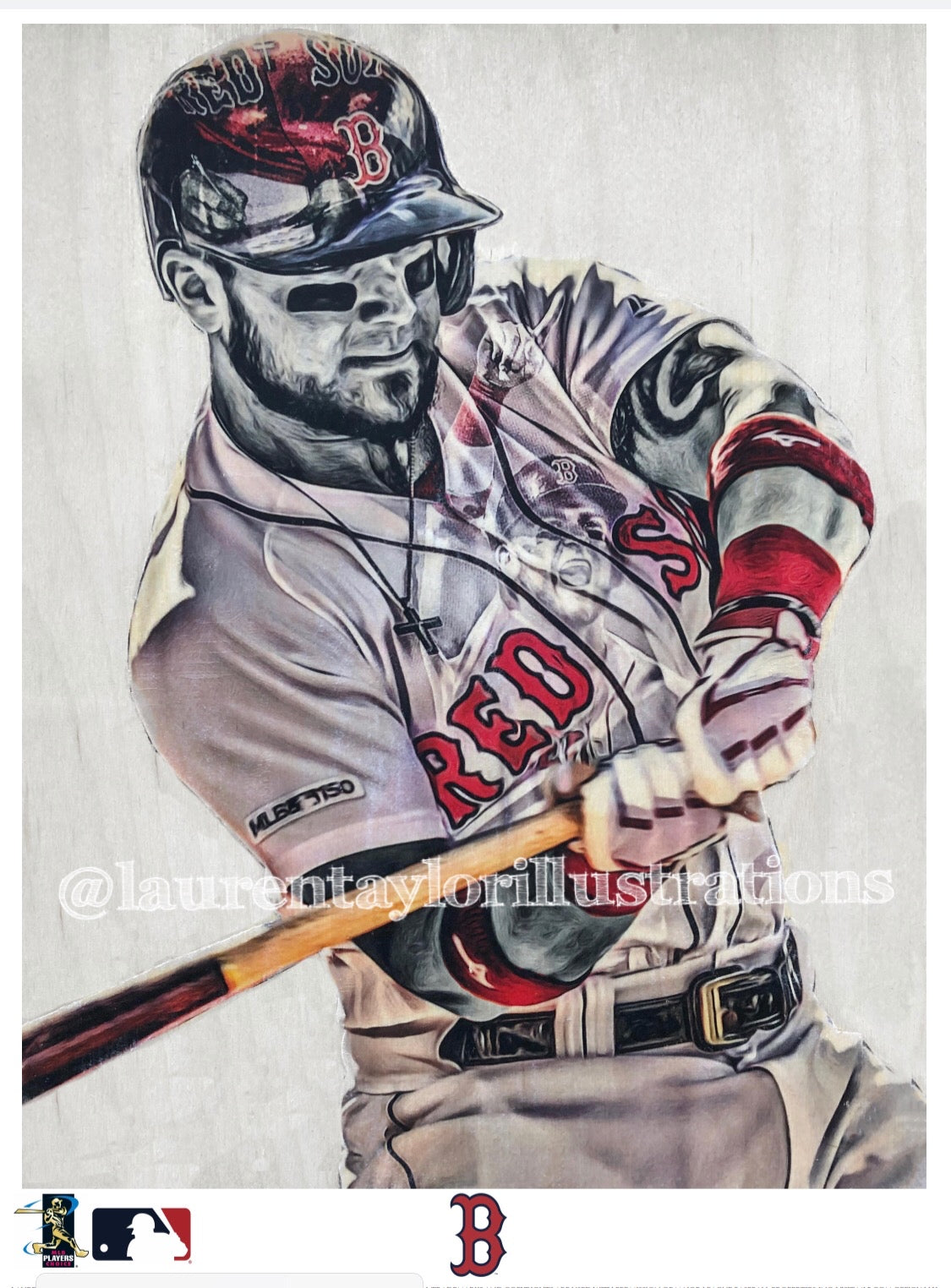 """Ice Horse"" (Michael Chavis) Boston Red Sox - Officially Licensed MLB Print - Limited Release"