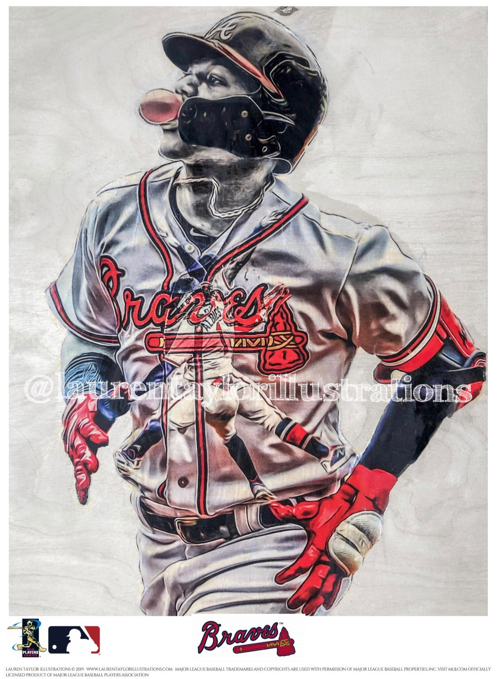 """El Abusador"" (Ronald Acuna Jr.) Atlanta Braves - Officially Licensed MLB Print - Limited Release"