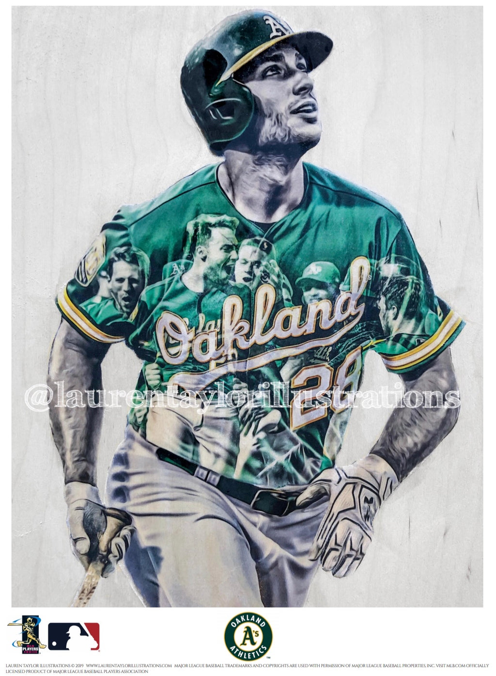 """Olson"" (Matt Olson) Oakland Athletics - Officially Licensed MLB Print - Limited Release"