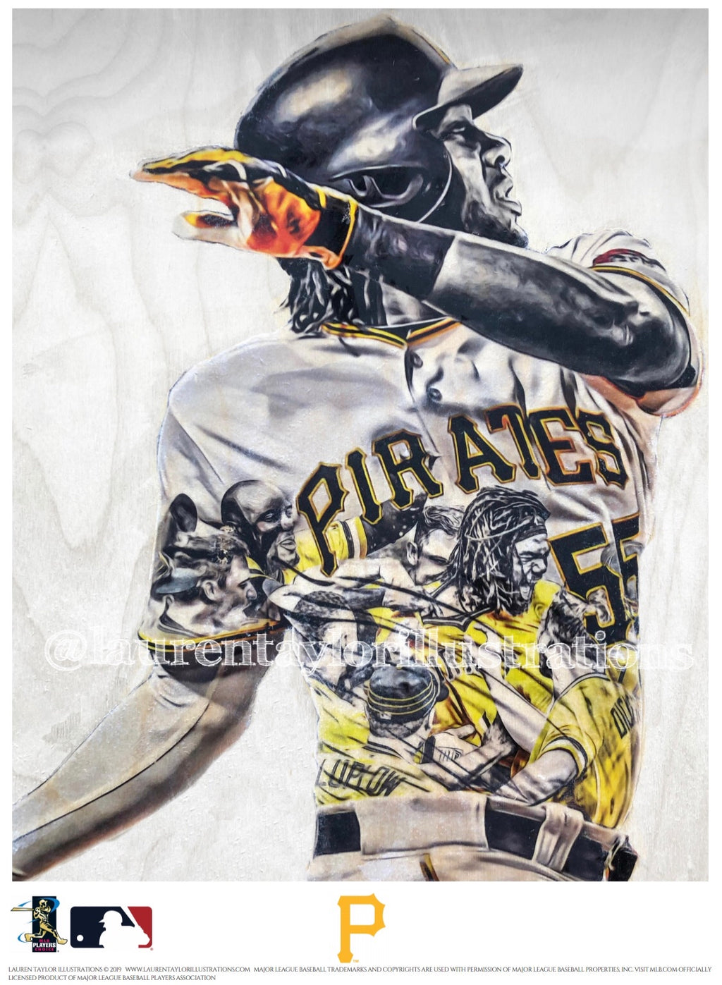 """Bell"" (Josh Bell) Pittsburgh Pirates - Officially Licensed MLB Print - Limited Release"