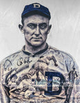 """The Georgia Peach"" (Ty Cobb) Detroit Tigers - SPECIAL EDITION (hidden art on backside) - 1/1 Original on Birchwood"