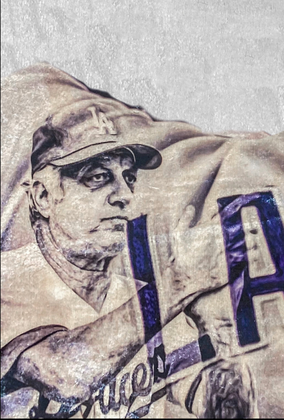 """Best Wishes"" (Tommy Lasorda) Los Angeles Dodgers - 1/1 Original on birchwood"