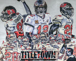 """Super Bowl LV Champions"" (Featuring Brady, Gronkowski and Fournette) Tampa Bay Buccaneers - Print"