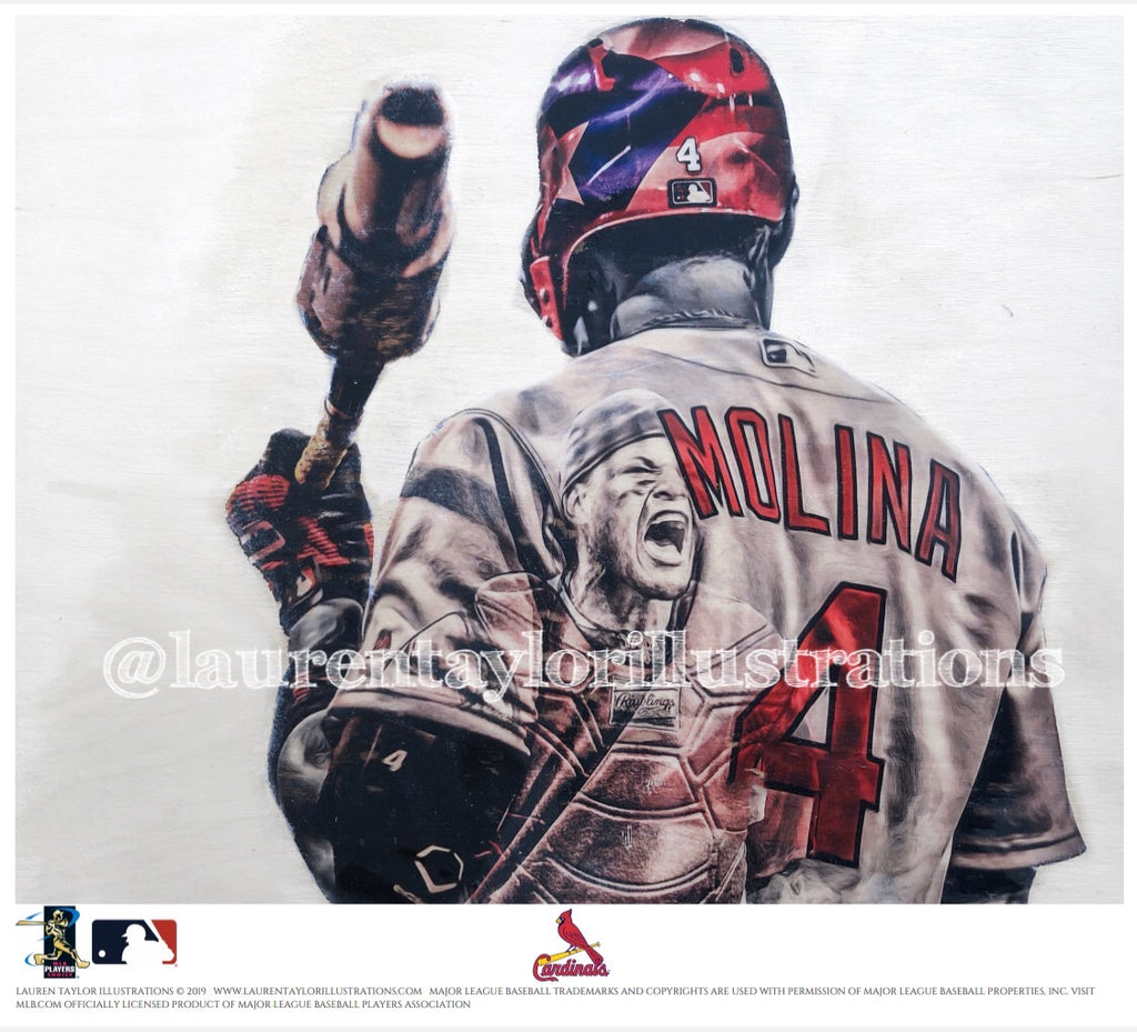 """Yadi"" (Yadier Molina) St. Louis Cardinals - Officially Licensed MLB Print - Limited Release"