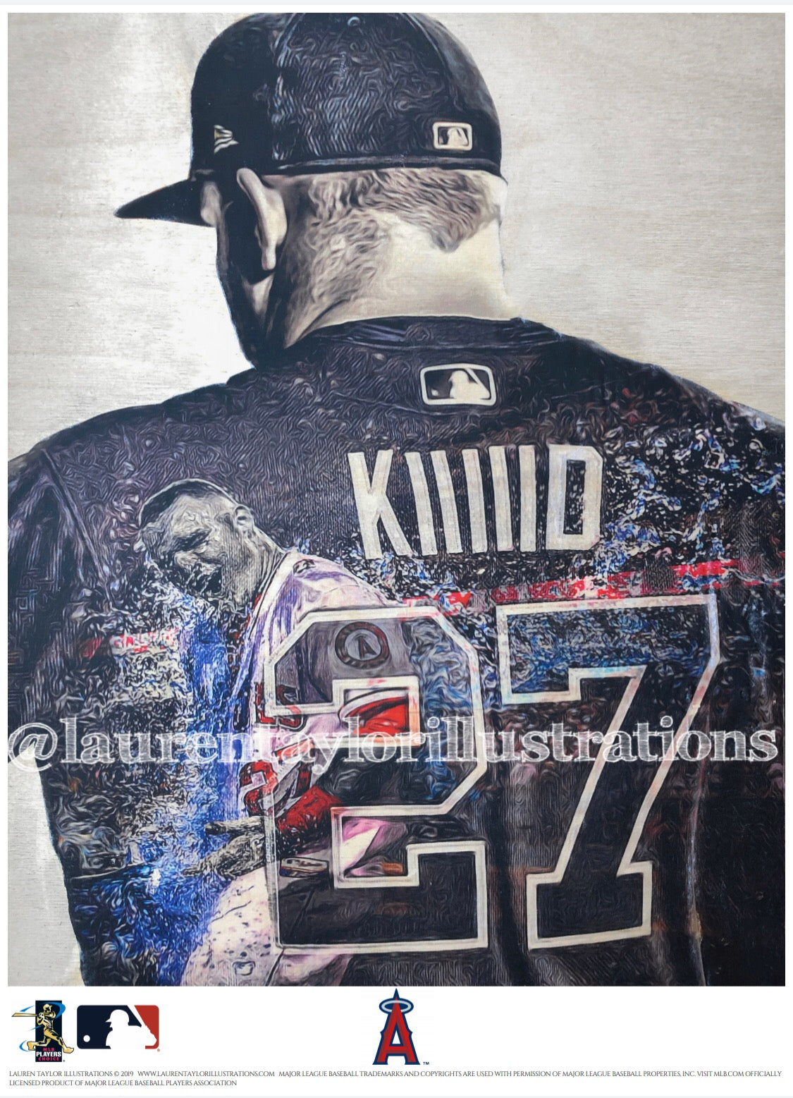 """KIIIIID"" (Mike Trout) Anaheim Angels - Officially Licensed MLB Print - Limited Release"