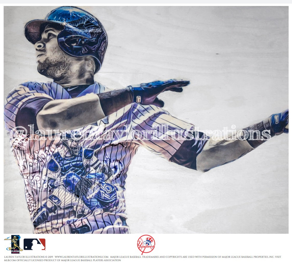 """Kraken"" (Gary Sanchez) New York Yankees - Officially Licensed MLB Print - Limited Release"