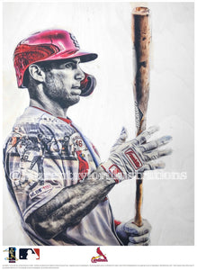 """Goldy"" (Paul Goldschmidt) St. Louis Cardinals - Officially Licensed MLB Print - Limited Release"
