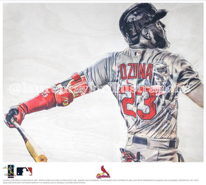 """Big Bear"" (Marcell Ozuna) St. Louis Cardinals - Officially Licensed MLB Print - Limited Release"