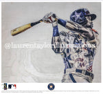 """Alvarez"" (Yordan Alvarez) Houston Astros - Officially Licensed MLB Print - Limited Release"