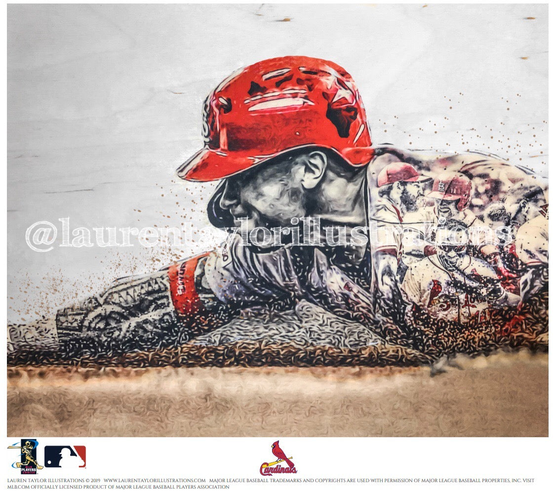 """808"" (Kolten Wong) St. Louis Cardinals - Officially Licensed MLB Print - Limited Release"