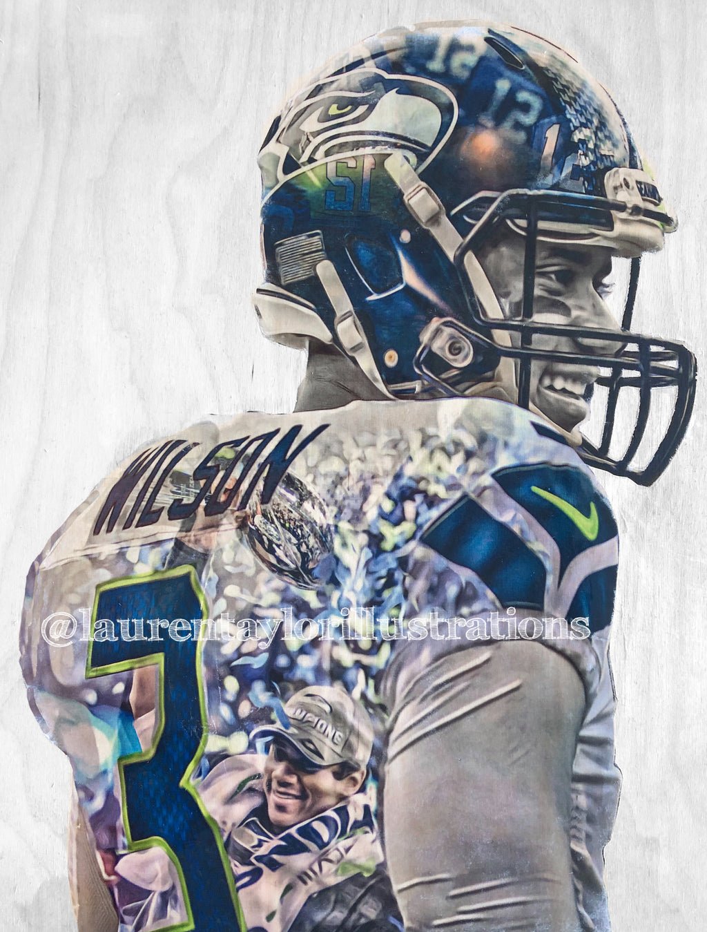 """Russ"" (Russell Wilson) Seattle Seahawks - NFL Football - Limited Release"