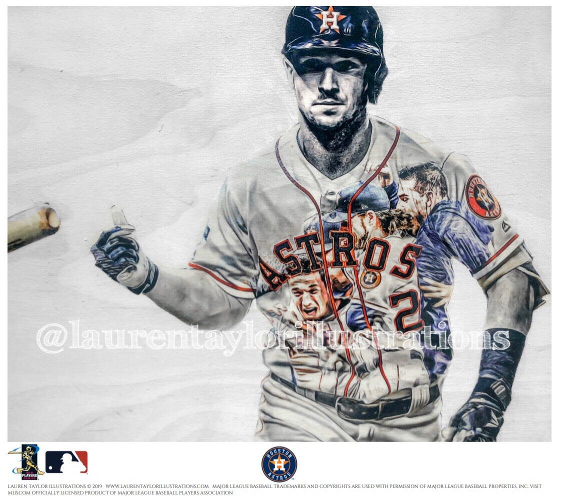 """Bregman"" (Alex Bregman) Houston Astros - Officially Licensed MLB Print - Limited Release"