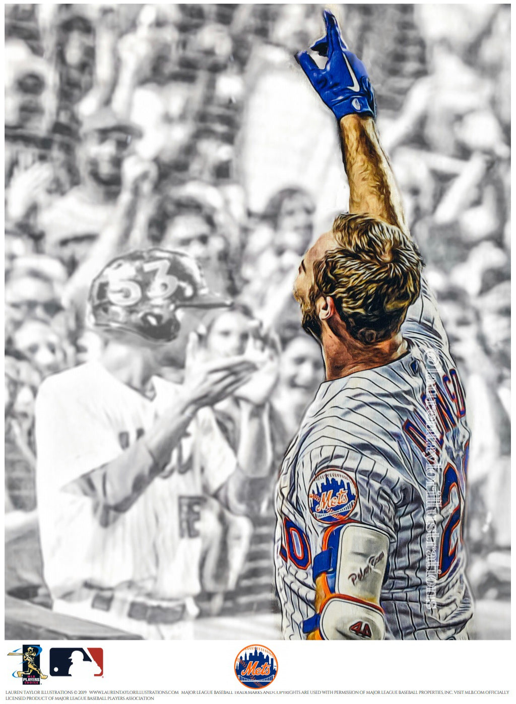 """53"" (Pete Alonso) New York Mets - Officially Licensed MLB Print - Limited Release"
