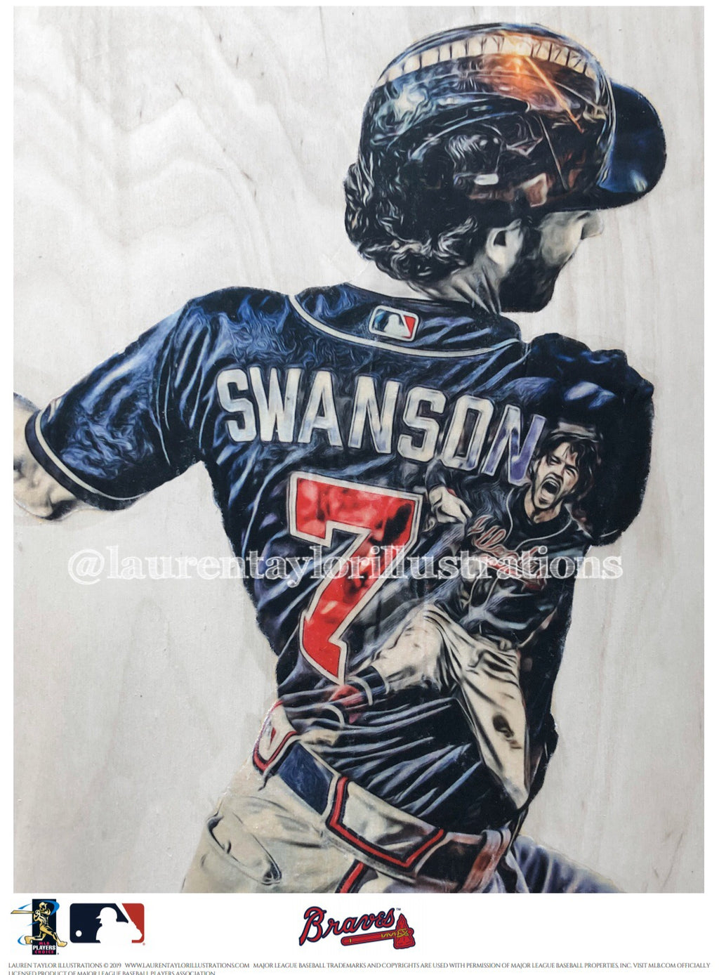 """Swanson"" (Dansby Swanson) Atlanta Braves - Officially Licensed MLB Print - Limited Release"