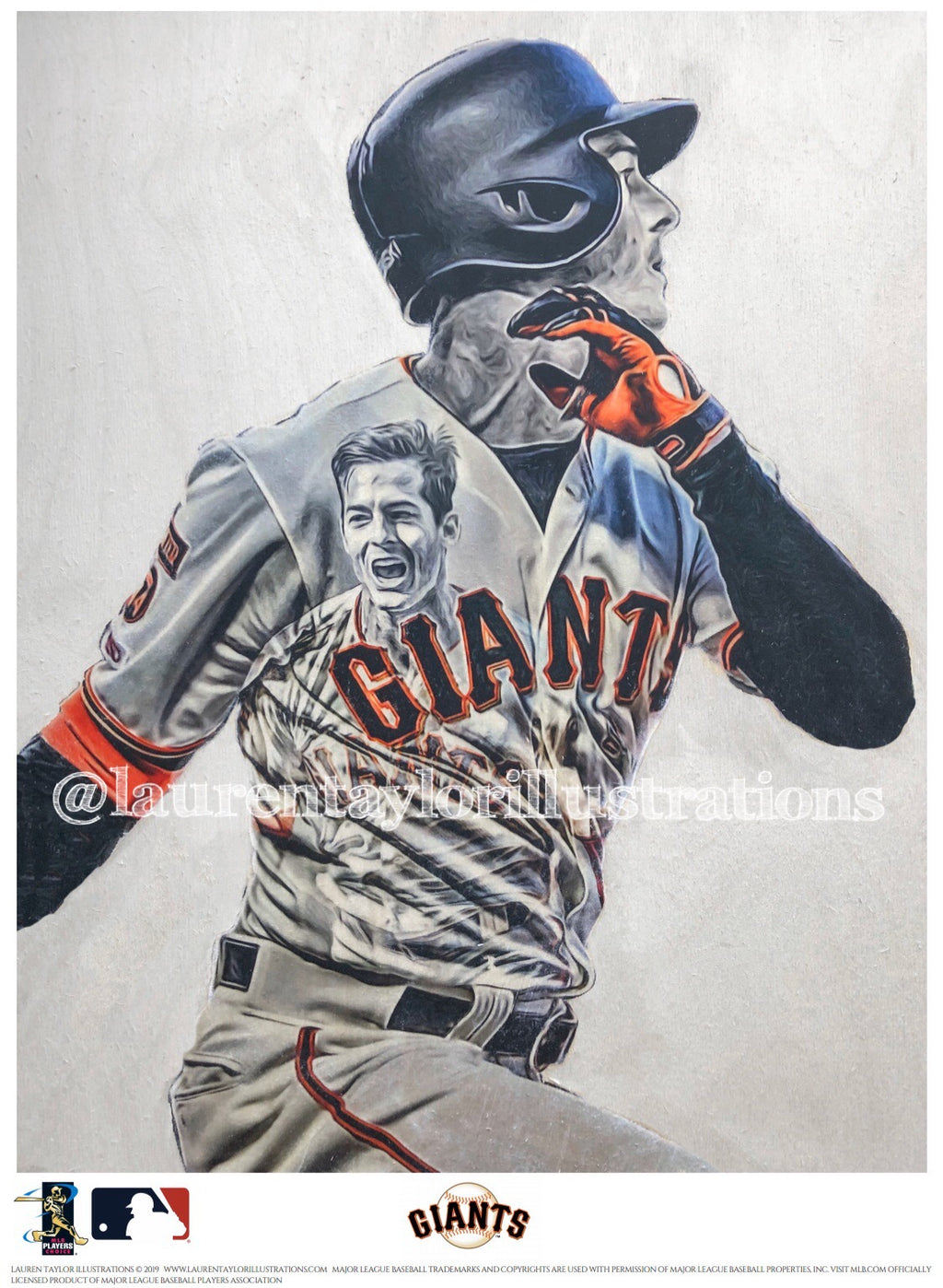 """Mike Yaz"" (Mike Yastrzemski) San Francisco Giants - Officially Licensed MLB Print - Limited Release"