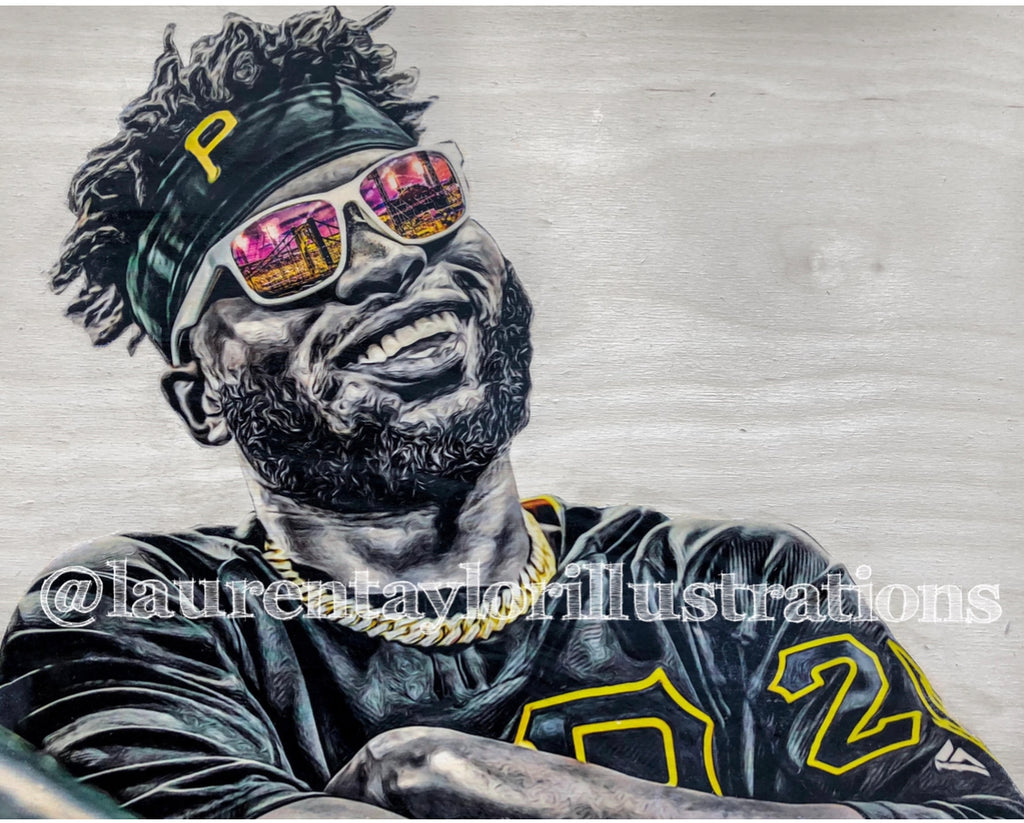 """El Coffee"" (Gregory Polanco) Pittsburgh Pirates - 1/1 Original on Wood"