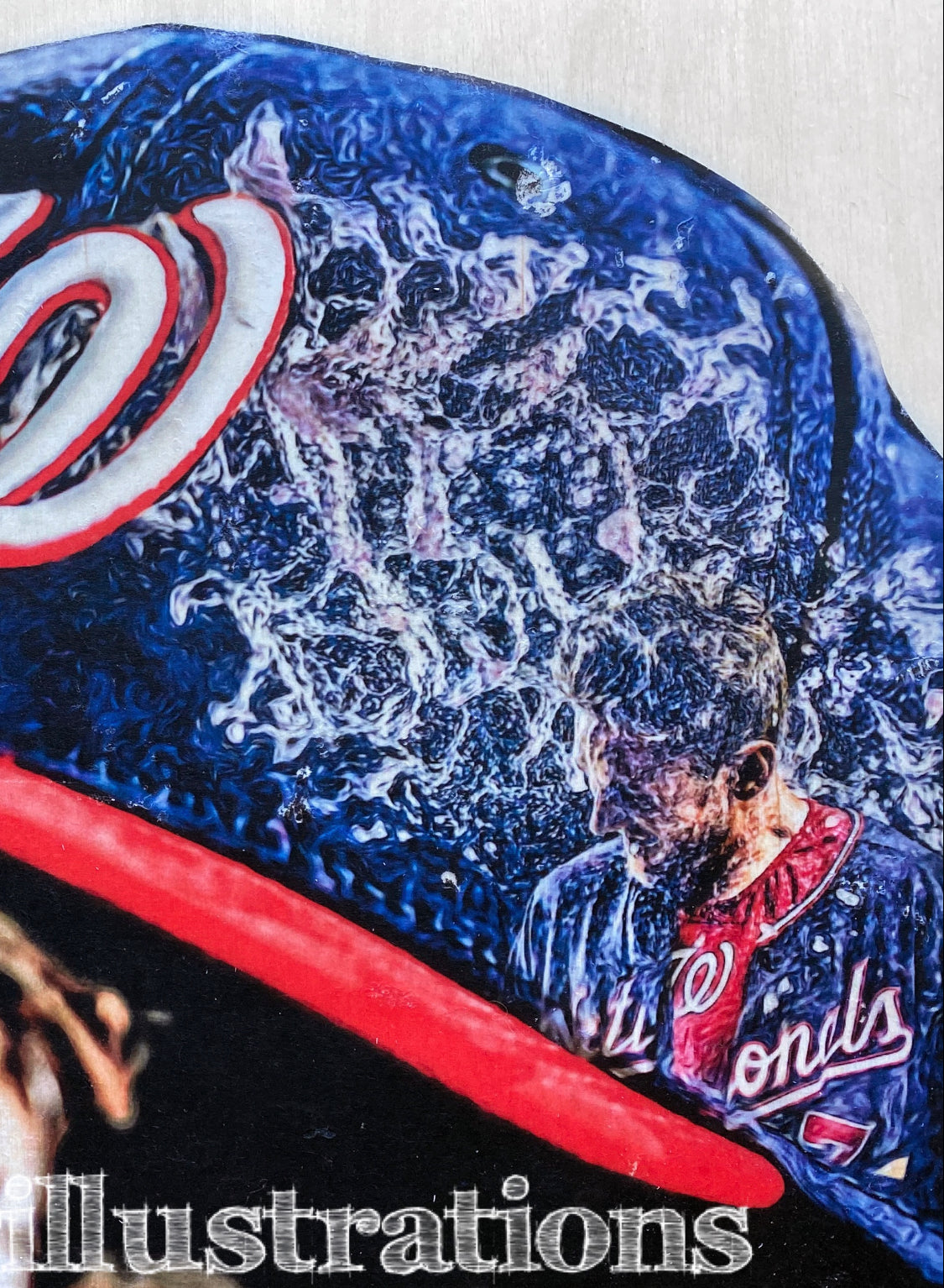 """DC"" (Washington Nationals/Trea Turner) - 1/1 Original on Wood"