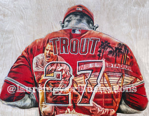 """The Millville Meteor"" (Mike Trout) Los Angeles Angels - Officially Licensed MLB Print - Limited Release"