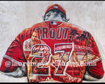 """The Millville Meteor"" (Mike Trout ) Los Angeles Angels - 1/1 Original on Wood"