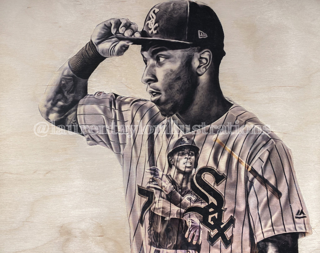 """TA7"" (Tim Anderson) Chicago White Sox - 2\2 Original on Wood"