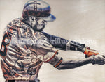 """Underpants"" (Hunter Pence) San Francisco Giants - 1/1 Original on Wood"