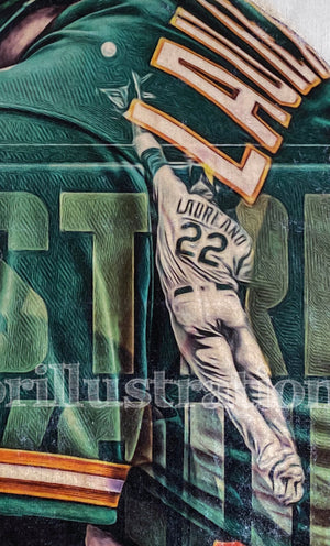 """Ramón Lazer"" (Ramón Laureano) Oakland Athletics - Officially Licensed MLB Print - Limited Release"