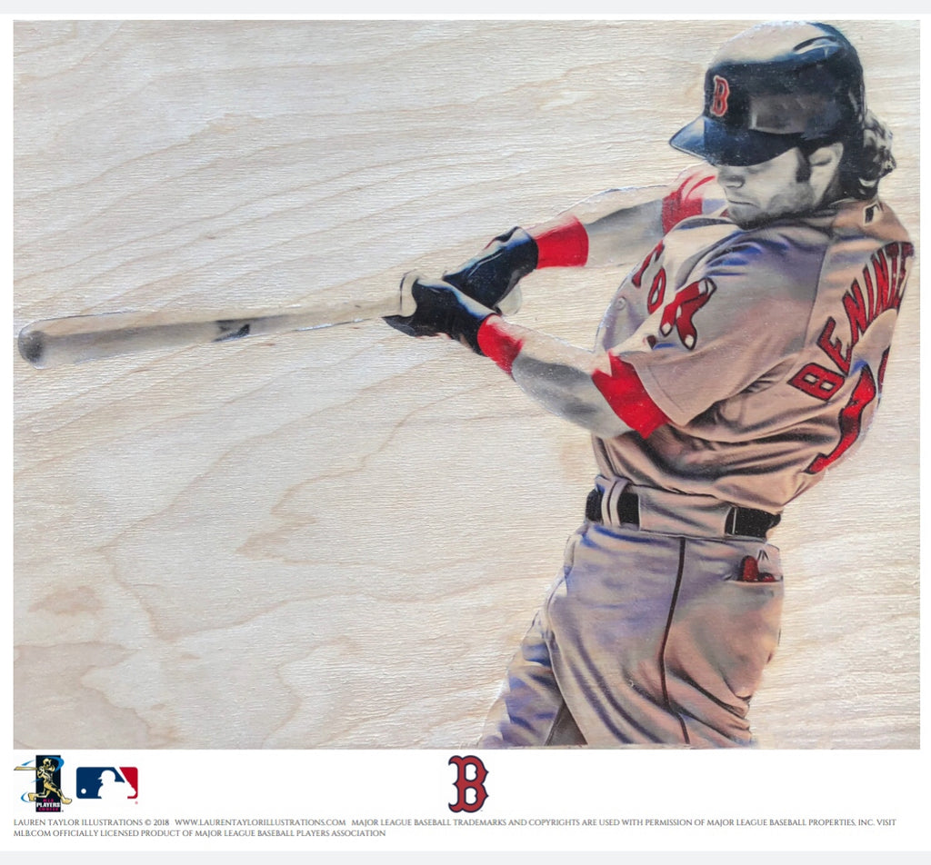 """Benni Biceps"" (Andrew Benintendi) - Officially Licensed MLB Print - Limited Release"