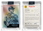 1/1 Gold Artist Signature - Aaron Judge Foil Variant 130pt Card #11 by Lauren Taylor - Baseball Card