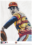 """No Hitter"" (Nolan Ryan) Houston Astros - Officially Licensed MLB Cooperstown Collection Print - Limited Release"