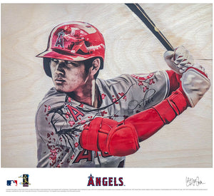 """Ohtani"" (Shohei Ohtani) Los Angeles Angels - Officially Licensed MLB Print"