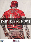 """WAR Lord"" (Mike Trout) - Officially Licensed MLB Print - Limited Release"