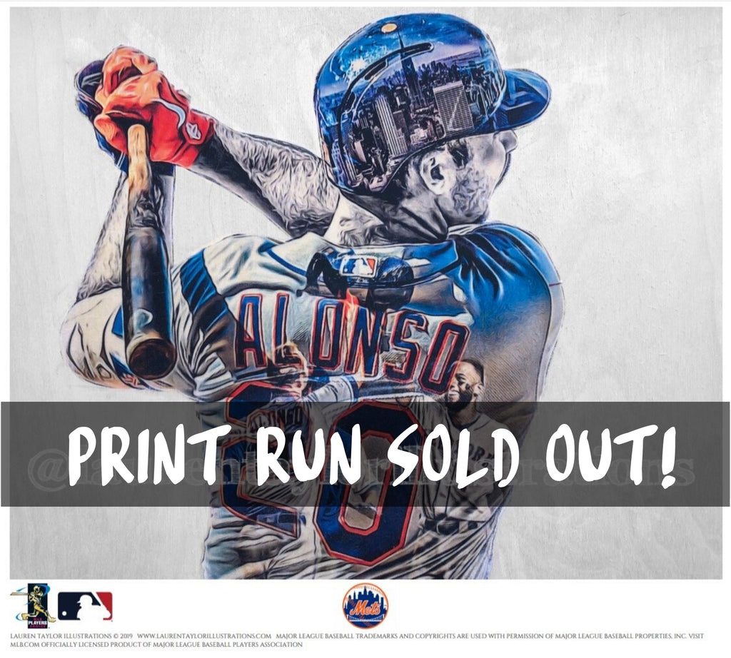"""Polar Bear"" (Pete Alonso) - Officially Licensed MLB Print - Limited Release"