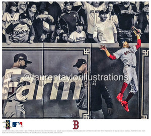 """Robbed"" (Mookie Betts) - Officially Licensed MLB Print - Limited Release"