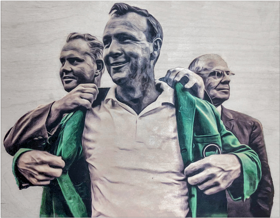 """Arnold Palmer"" Golf Masters Print"
