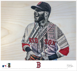 """Pedey"" (Dustin Pedroia) - Officially Licensed MLB Print"