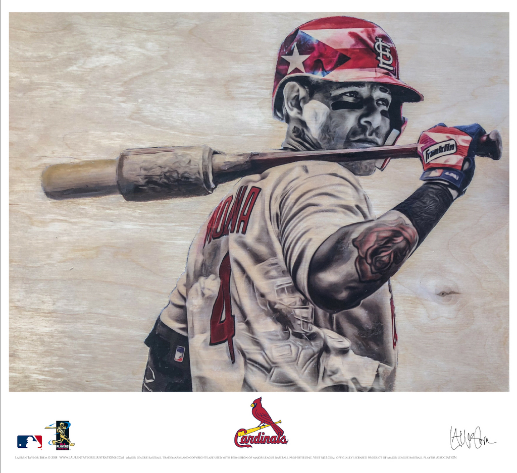 """Molina"" (Yadier Molina) St. Louis Cardinals - Officially Licensed MLB Print"