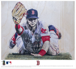 """Benny Slide"" (Andrew Benintendi)  - Officially Licensed MLB Print"