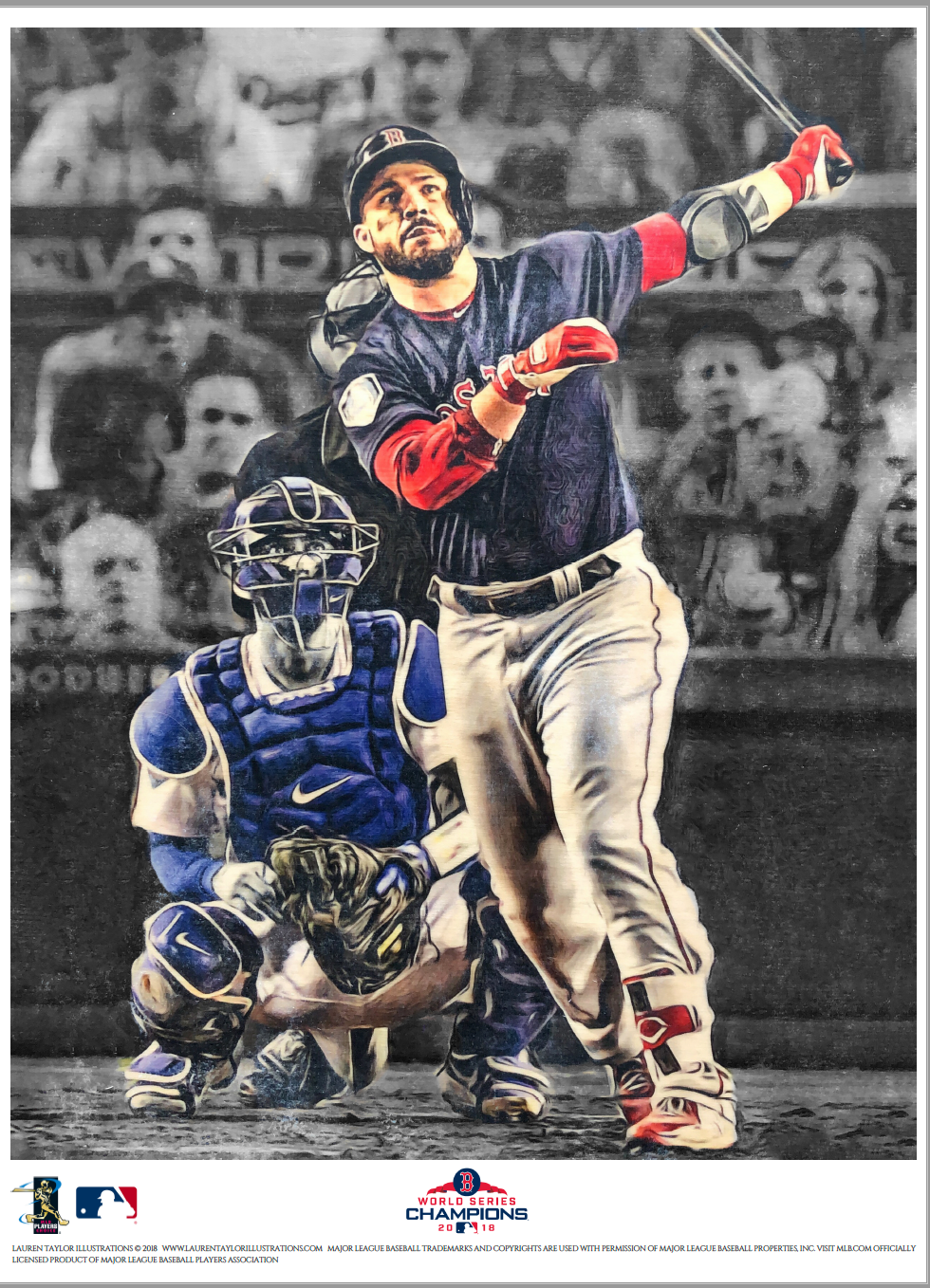 """MVPearce"" (Steve Pearce)  - Officially Licensed MLB Print"