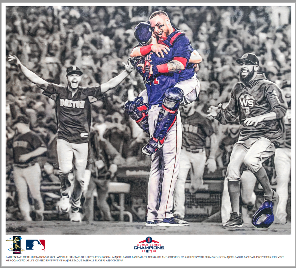 """Strike Three"" (Christian Vázquez & Chris Sale)  - Officially Licensed MLB Print"
