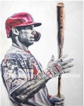 """Goldy"" (Paul Goldschmidt) St. Louis Cardinals - 1/1 Original on Wood"