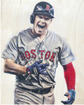 """Brockstar"" (Brock Holt) Boston Red Sox - 1/1 Original on Wood"