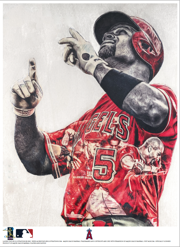 """Pujols"" (Albert Pujols) Los Angeles Angels - Officially Licensed MLB Print - Limited Release"