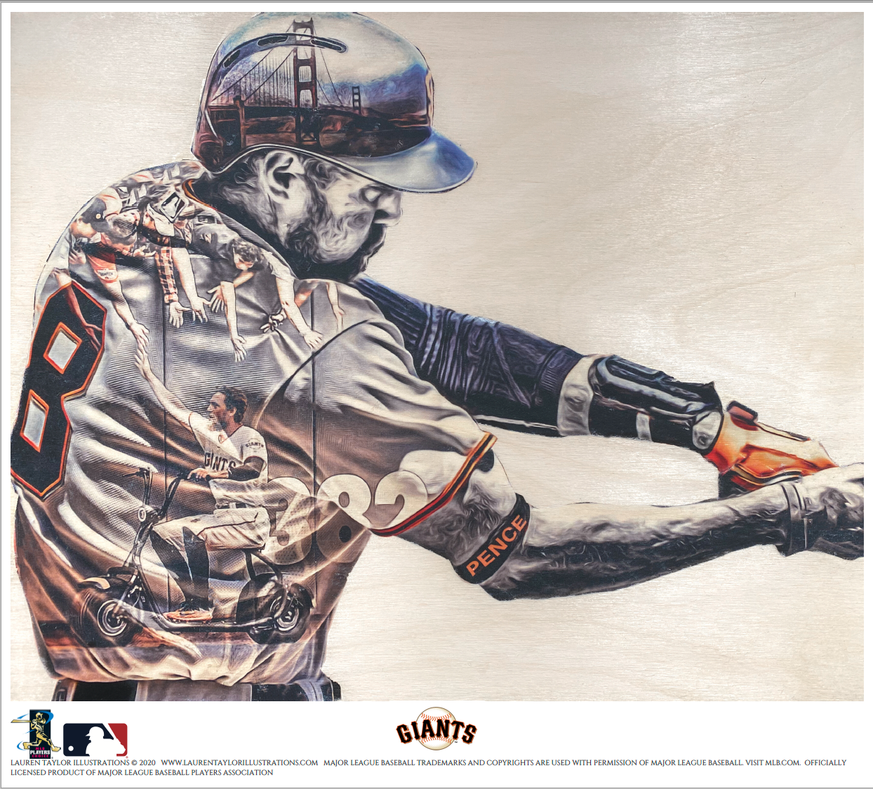 """Underpants"" (Hunter Pence) San Francisco Giants - Officially Licensed MLB Print - Limited Release"
