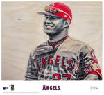 """Trout"" - Officially Licensed MLB Print"