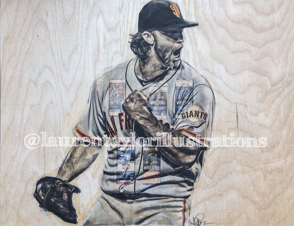 """MadBum"" Mixed Media Original on Wood"