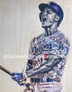 """Seager"" 1/1 Original on Wood"