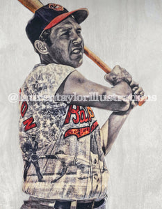 """Brooks"" (Brooks Robinson) Baltimore Orioles - 2/2 Original on Wood"
